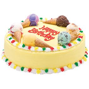 Ice Cream Cone Round Cake